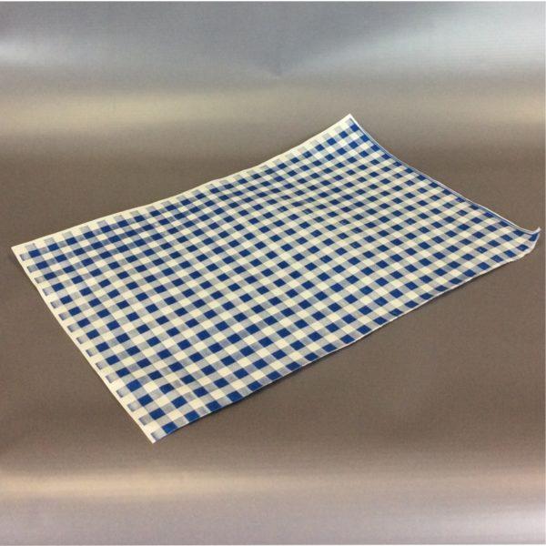 Blue 250cm x 375cm (10inch x 12inch) checked duplex sheet