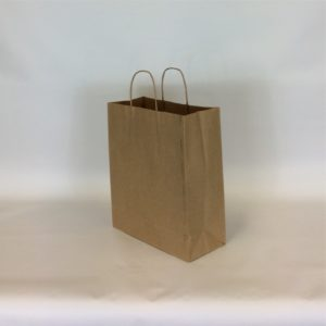 Brown 260+11x350mm Twisted String Handle Carrier Bag.