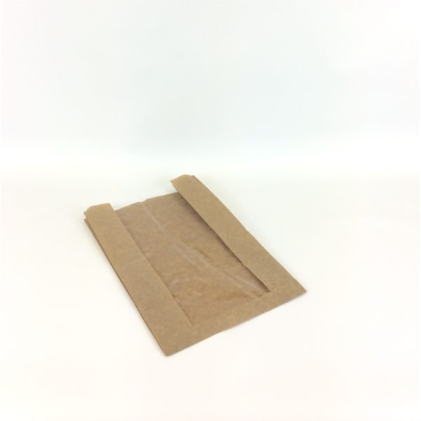 Brown Artisan Window 230x70x355mm Film Front Bag