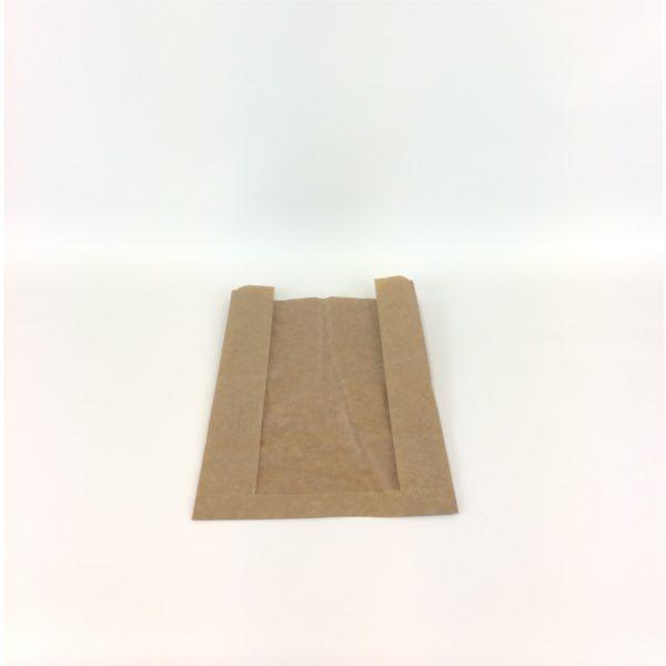 Brown Artisan Window 230x70x355mm Film Front Bag - Lay Flat