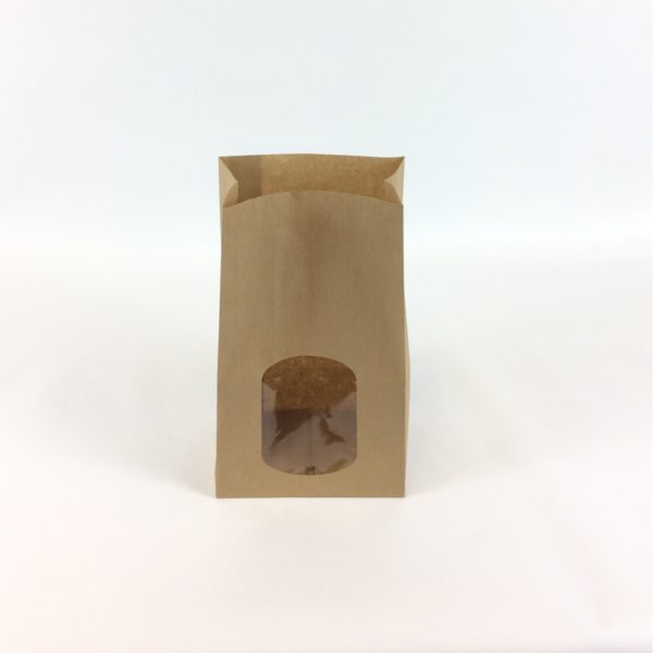 Brown Film Front SOS With Sandwich Window 150 x 100 x 250 mm Stood Upright with Open Top