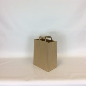 Brown Large, 250x390x305mm, 10 Inch - Extranal Handle Paper Tape Carrier Bag
