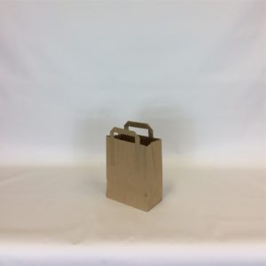 Brown Small, 175x270x215mm - 7 Inch - Extranal Handle Paper Tape Carrier Bag