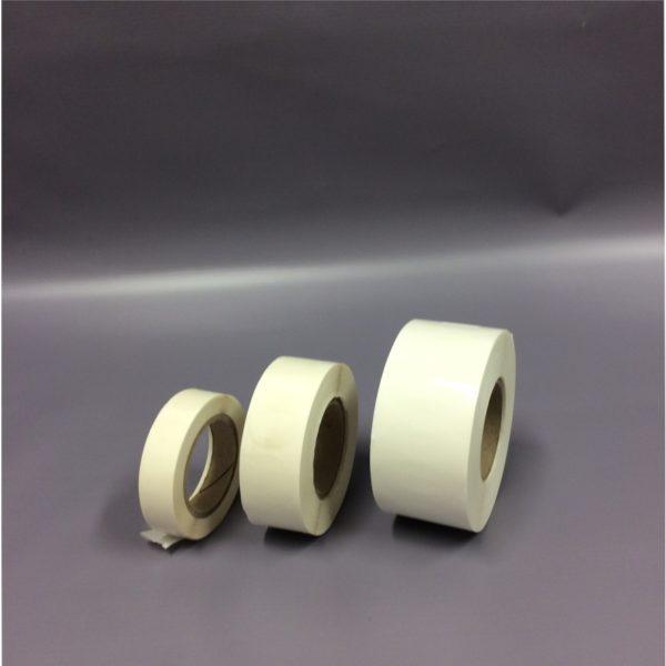 Clear 40mm, 25mm, 14mm Diameter Circle Sticker (Group Shot) - Up-Opened Sticker Rolls