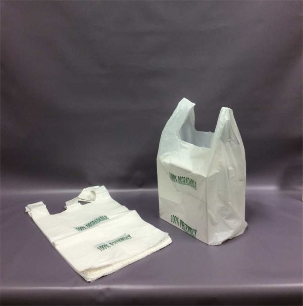 ECO 330x470x570mm 20mu White HDPE Vest Carriers