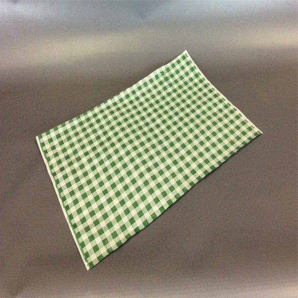 Green 250cm x 375cm(10inch x 12inch) checked duplex sheet