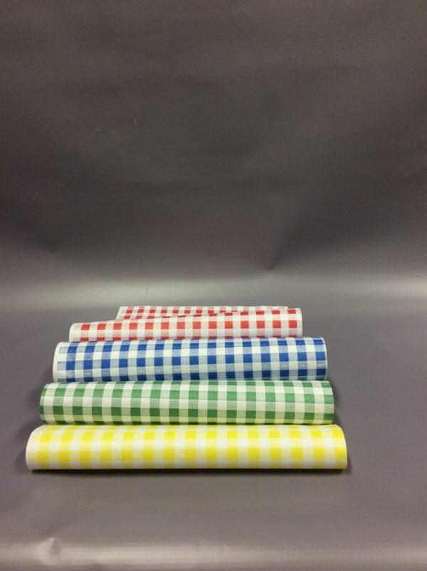 Red Check, Blue check, green check, yellow check duplex sheets