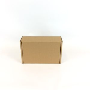 Small 275x190x83mm Brown Mailing Box Open Front On View