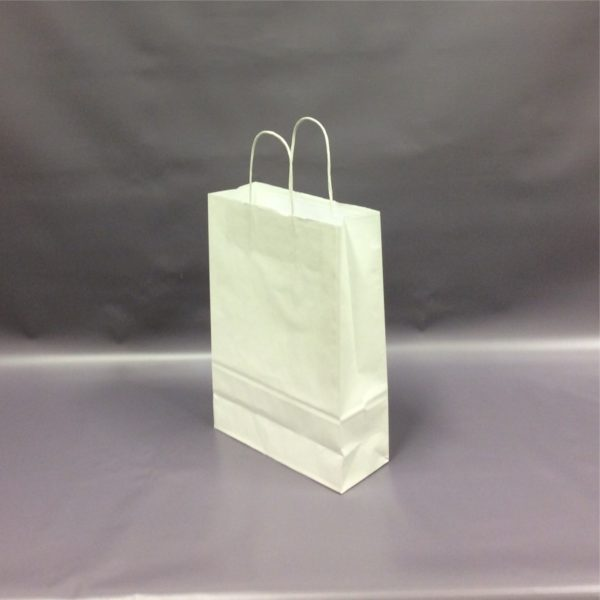 White 230+90x310mm Twisted String Handle Carrier Bag