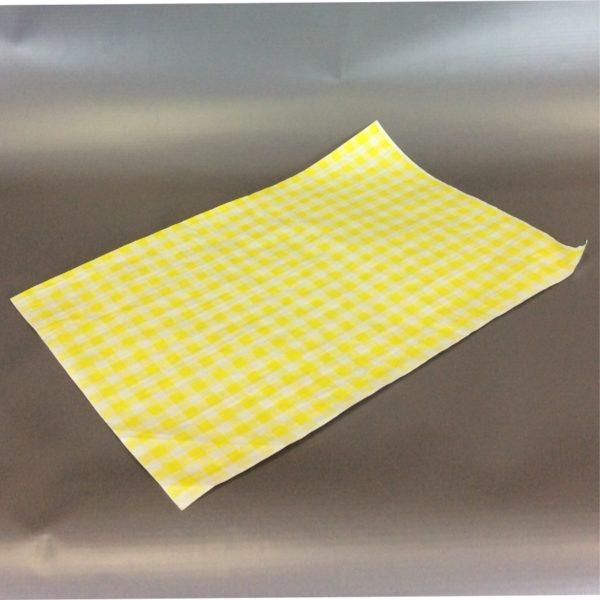Yellow 250cm x 375cm (10inch x 12inch) checked duplex sheet