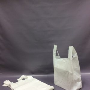 330x470x570mm 20mu White HDPE Vest Carriers