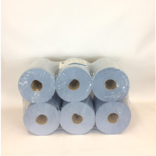 2 Ply Blue Centre Feed Rolls - 6 Pack