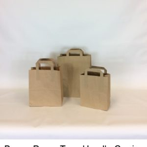 Brown Paper Tape Carrier Bag