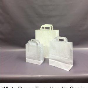 White Paper Tape Carrier Bag