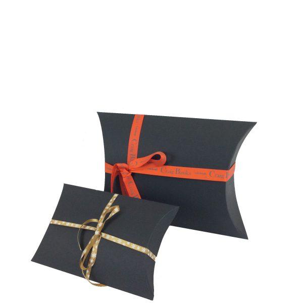 Black Pillow Box With Ribbon